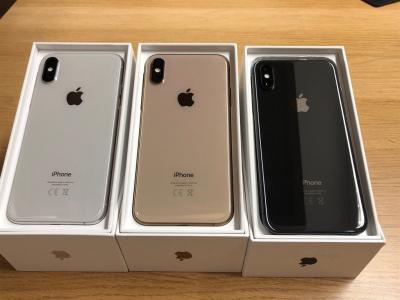 Apple iPhone XS 64GB = €400 ,iPhone XS Max 64GB = €430,iPhone X 64GB = €300,iPhone 8 64GB = �
